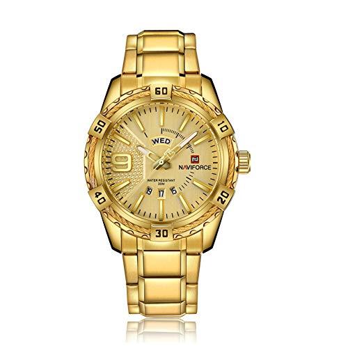 YSCCSY Männer Quarz Uhren Militär Wasserdicht Datum Alarm Multifunktions Analog Digital Shock Resistant Casual Handgelenk Für Männer,Gold