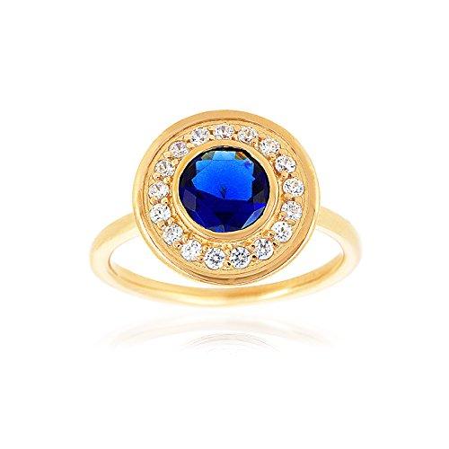 """Fashionvictime - Bague Femme - """"Eclats Diamant"""" - Vermeil - Cubic Zirconium (Cz) - Bijou"""