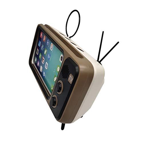 2019 Newest!!! Drahtloser Bluetooth Lautsprecher Speaker mit Handy TV Halter,Nourich Spieler USB Radio Fm Sprecher für Indoor/Outdoor, Wireless, wassergeschützt, starker Akku, Smartphone (Gold) (Logitech Ipad 2 Lautsprecher)