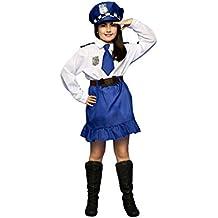 Disfrazzes - Disfraz de policía para niñas de 3 a 4 años