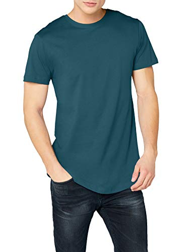 Urban Classics Herren T-Shirt Shaped Long Tee TB638, Türkis (teal), 2XL -