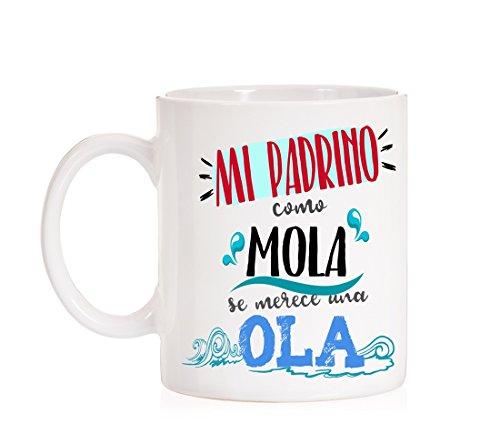 Taza Mi Padrino como Mola se Merece una Ola. Taza Muy Divertida para R