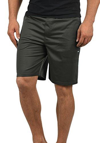 Retro Turnhose (!Solid Leando Herren Sweatshorts Kurze Hose Jogginghose Mit Kordelzug Stretch Regular Fit, Größe:L, Farbe:Dark Grey (2890))