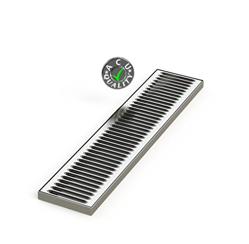 Bar Drain Tray (13cm X 60cm X 3/4 Surface Mount Drip Tray - No Drain - Stainless Steel 4 Brushed Finish)