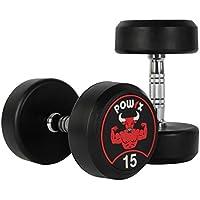 POWRX - Mancuernas con Revestimiento de Goma 15 kg Set (2 x 7,5