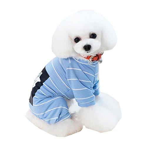 elie Puppy Vier bein hose Löwe bedruckt Cotton Stripe Casual niedlichen Home Kostüm (Der Löwe Im Winter Kostüme)