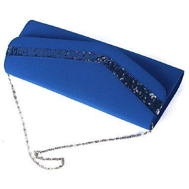 Seide Pailletten weiblichen Tasche zu Haken Tasche cognac Handtasche eine Schulter aslant weiblichen Tasche Blue