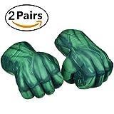 BDFA 2 para Hulk Smash Hände Boxhandschuhe Plüsch Hulk Handschuhe Für Kinder Geburtstag Weihnachten Lustige