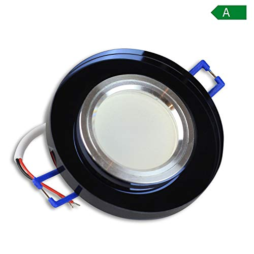 Trano Foco LED empotrable (230V, GU10,–de Cristal en Schöner Diseño.–LED Spot sin...