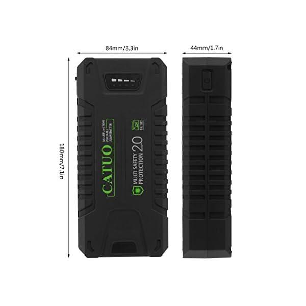 CATUO Arrancador de Coche 20000mAh 1000A, Batería de Coche Portátil Externa Recargable Jump Starter Arranque Kit para…