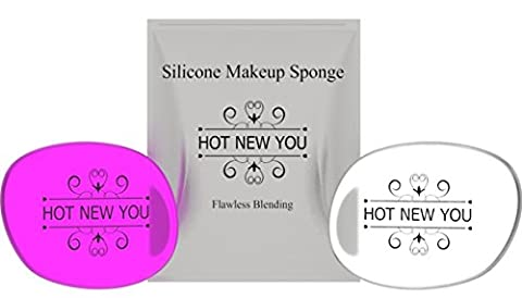 Hot New You Silicone Make Up Sponge (Oval) Glitter Transparent Singe Make-Up Sponge