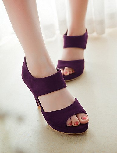 UWSZZ IL Sandali eleganti comfort Scarpe Donna-Sandali / Scarpe col tacco-Tempo libero / Formale / Casual-Tacchi / Spuntate / Plateau-A stiletto-Finta pelle-Nero / Blu / Green