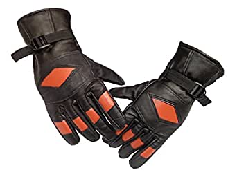 GOOD LIFE STUFF Men's Genuine Leather on Outer and Fur Insideused Gloves(Free size,Black )