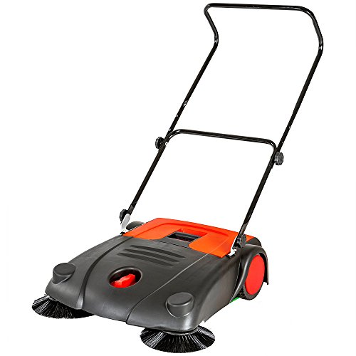 Tectake spazzatrice manuale a spinta pulitrice 20 litri larghezza di lavoro 70 cm