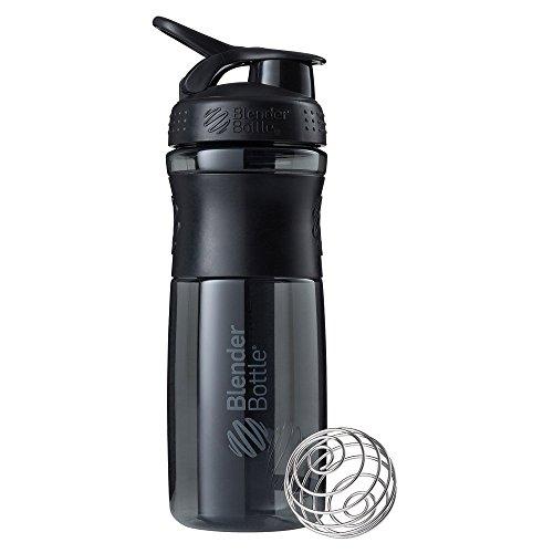 BlenderBottle Sportmixer   Protein Shaker cup    Diet Shaker    Water Bottle   with BlenderBall   820ml - black/black