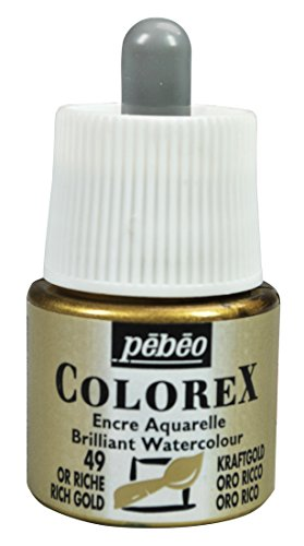 Colorex 342-049 Aquarelltinte, PET, Gold, 4.5 x 4.5 x 7 cm, 1 Einheiten