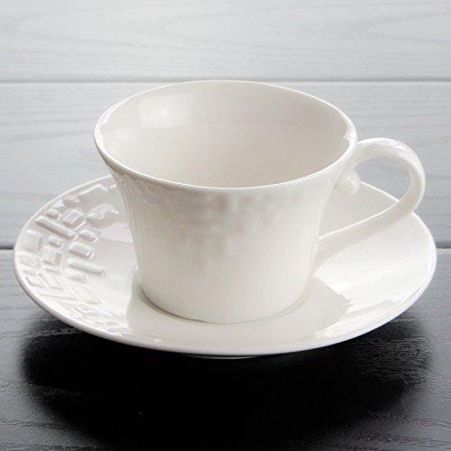 HONGYUANZHANG Kaffeetasse Weiße Keramik Tasse Startseite Schwarzer Tee Tasse Büro Blume Hotel...