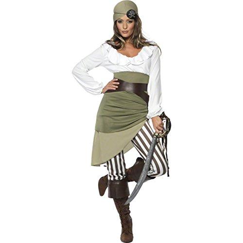 Piratenbraut Kostüm - Piratenkostüm Damen S 36/38 Piratin Kostüm