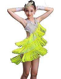 b9cc72d8e8912 Trajes de Vestir de Baile de Tango Vestido de Ballet Latino asimétrico para  niños pequeños para