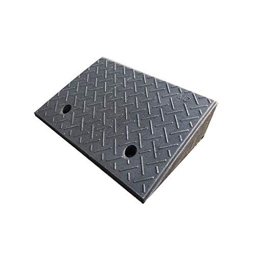 CJXing-Slope pad Fahrzeug-Rampen, Gummi-Hochlast-Lager-Bordstein-Rampen-Fabrik-Kraftfahrzeug-Laderampen-Tankstellen-Eingangs-Dreieck-Auflage (Color : Black, Size : 48 * 32 * 13CM)