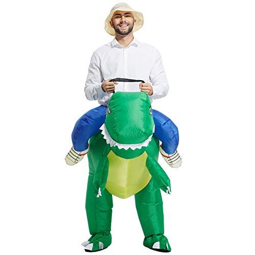 Egosy Aufblasbares Kostüm Dinosaurier Kostüm T-Rex Reitkostüm für Halloween Karneval Fastnacht Fasching Kostüm ()