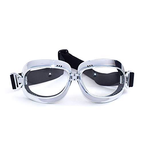 kamier Motorrad-Wind- und Sandschutzbrille Outdoor-Sport-Reitbrille transparent