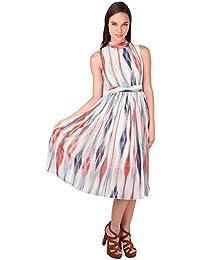 Summer Chiffon Casual Dress- Pink