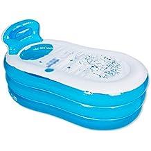 Verdickte aufblasbare Badewanne Aufblasbare Badewanne Dicker Erwachsene Badewanne Badewanne Bad Kinder Waschbecken Bad Fässer Kunststoff Bad Fässer Klappbad ( Farbe : B , größe : No pump included-130*70*45CM )