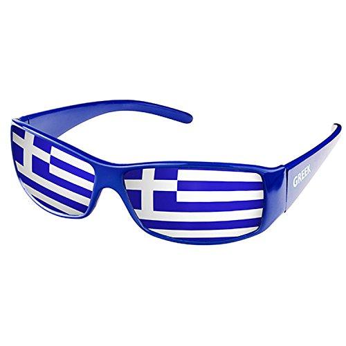 Piersando Sonnenbrille Brille Fahne Fussball EM & WM Länderflagge Augen Fanartikel Land Flagge Griechenland