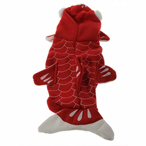 Funnyrunstore Gold Fisch Form für Hundekostüme hochwertiger Mantel ()