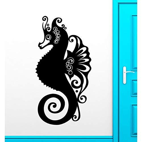 Jixiaosheng Neu Ankunft SeepferdchenWandaufkleberOcean Marine Tier BadezimmerAbziehbild Dekor Hochwertige Wasserdichte Nette Wandbild42 * 81 Cm