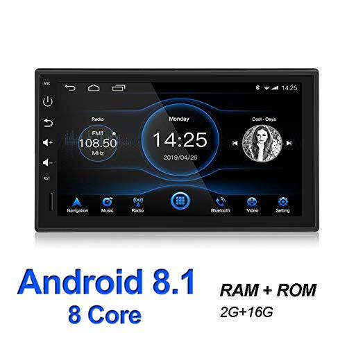 WANGOFUN Android 8.1 Autoradio Stereo 7 Zoll kapazitiver Touchscreen High Definition GPS Navigation Bluetooth USB SD Player Octa Core mit 2G DDR3 6G Speicher Flash