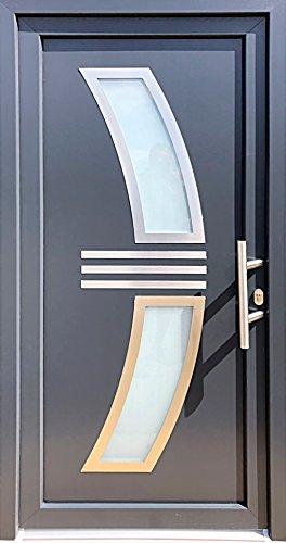 Nr.2 Wohnungstür in anthrazit,Hauseingangstür,Innen R. Haustür 100 x 210 cm, Außentür,Luxustür,Glastüren, Luxustüren, Glastür, Tür 100 x 210 cm, Tür 1,0 x 2,1 m
