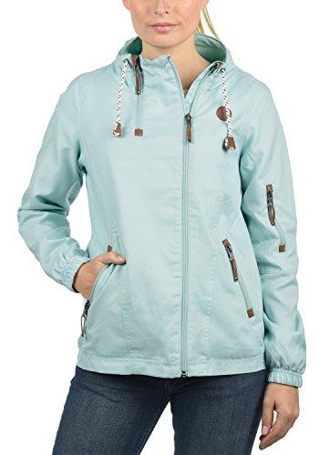 DESIRES Belle Damen Regenjacke Windbreaker Übergangsjacke mit Stehkragen, Größe:XXL, Farbe:Blue...