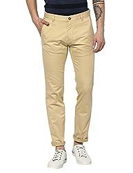 Monte Carlo Light Brown Regular Fit Formal Trouser