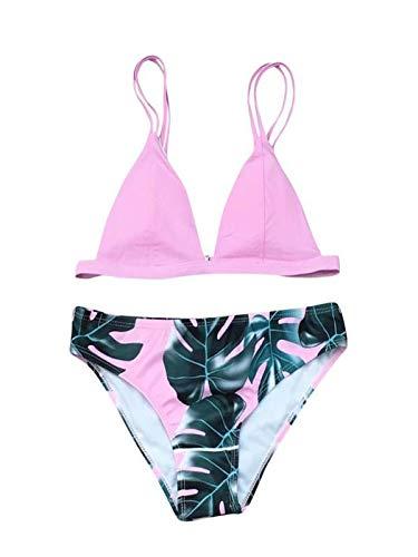 845e8174b8227f BaZhaHei 2019 Damen Sommer Bikini-Sets Push up Swimsuits Strand Badeanzug  Badebekleidung Bademode Blätter Drucken