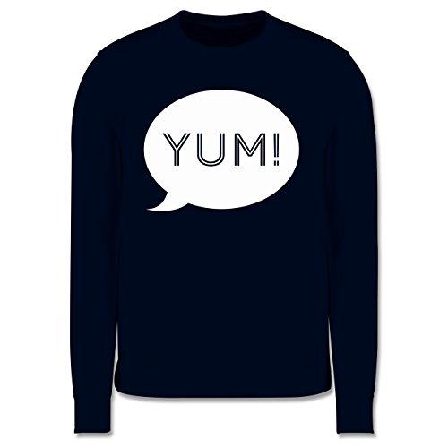 Küche - Yum Sprechblase - Herren Premium Pullover Dunkelblau