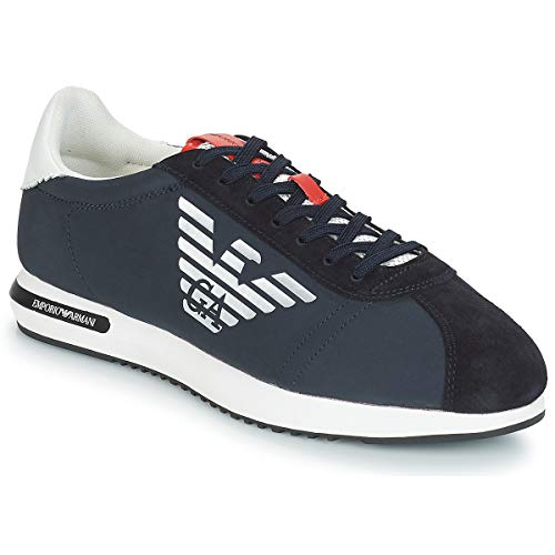 Emporio Armani X4X260-XL710 Sneaker Herren Blau - 43 - Sneaker Low