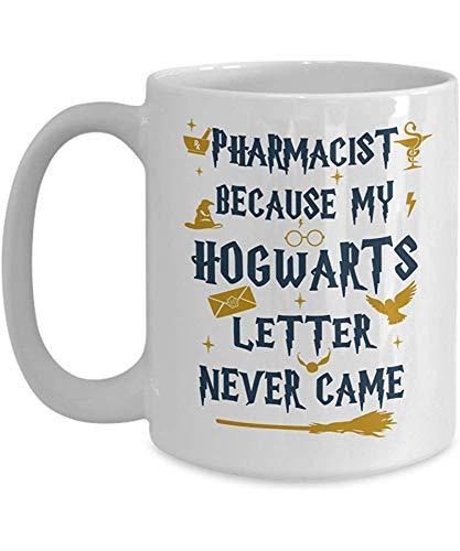 Grandes ideas para regalos Farmacéutico porque mi carta nunca llegó Tazas de café Novedad cerámica blanca acogedora 11 oz Taza de té divertida