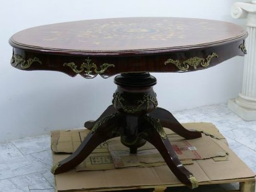 LouisXV Table style baroque rococo antique ovale MoTa0596