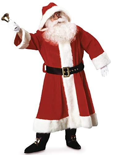 Santa Anzug Kostüm Rubies - Rubie 's Offizielles Plüsch Old Time Santa Anzug mit Kapuze