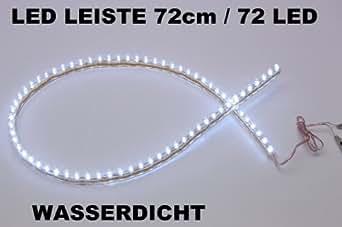 2 x  LED Leiste Streifen weiß Lichtleiste 72 cm-72 led wasserdicht Aquarium Mondlicht
