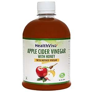 HealthViva Apple Cider Vinegar with Mother Vinegar and ...