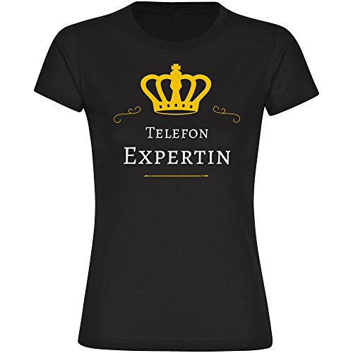 Image of Telephone Expert, Women's T-Shirt Black Size S to 2XL Black black Size:XL