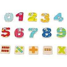 Boikido - Set de números y signos magnéticos, 55 piezas (80834095)