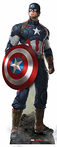 empireposter The Avengers - Captain America Pappaufsteller Standy - ca. 190 cm (America Cut-out Captain)