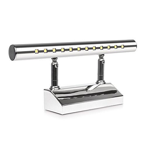 Acero inoxidable espejo lámpara abedoe IP44baño lámpara–Lámpara de pared para baño Espejo Luz lateral con interruptor color blanco [Clase energética A + +]