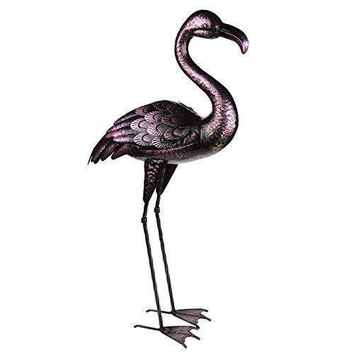 Décoration de jardin en métal Flamingo. Hauteur 80 cm
