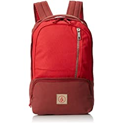 Volcom Rucksack Basis Canvas Backpack - Mochila, color borgoña, talla DE: 45 x 30 x 7 cm