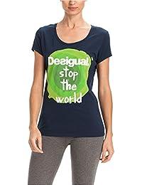 Desigual - Camiseta De Mujer Giuleta, color azul, talla S
